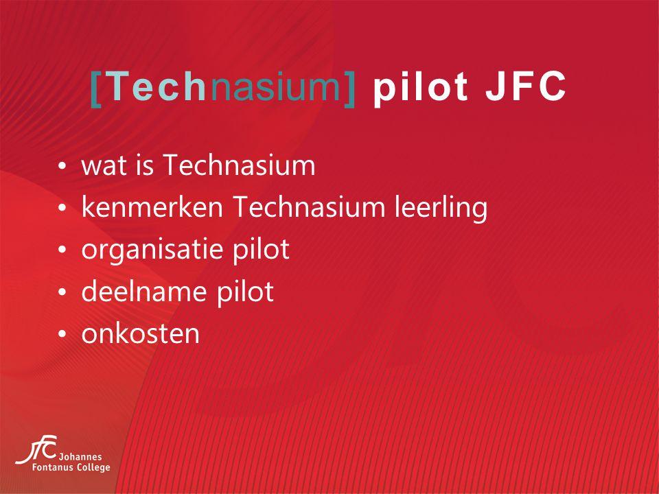 [Technasium] pilot JFC